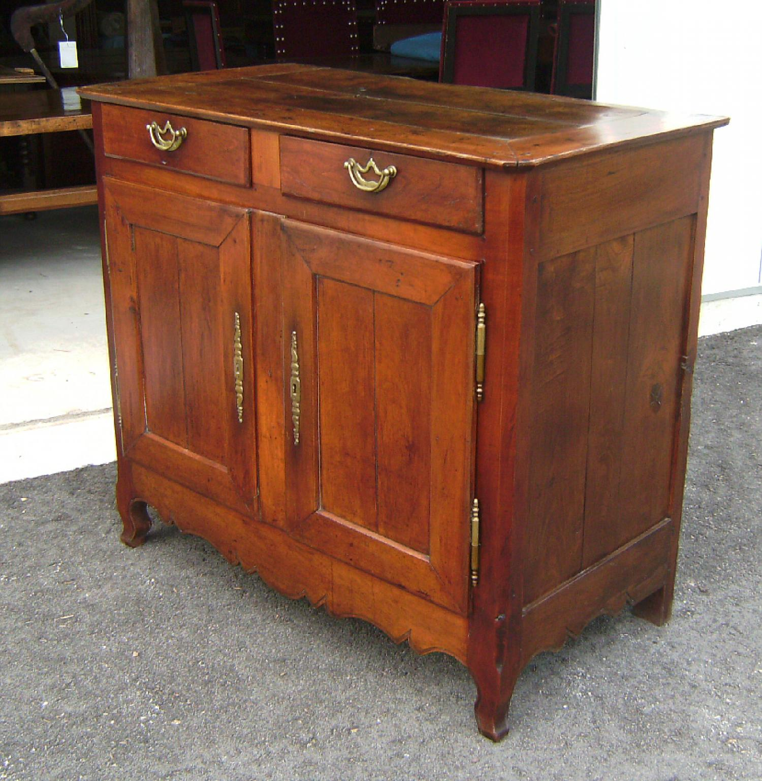 Country French kitchen or dining room sideboard c 1780