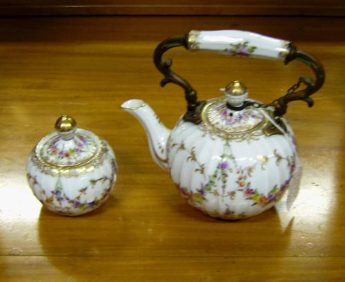 Dresden Tea Pot and Sugar