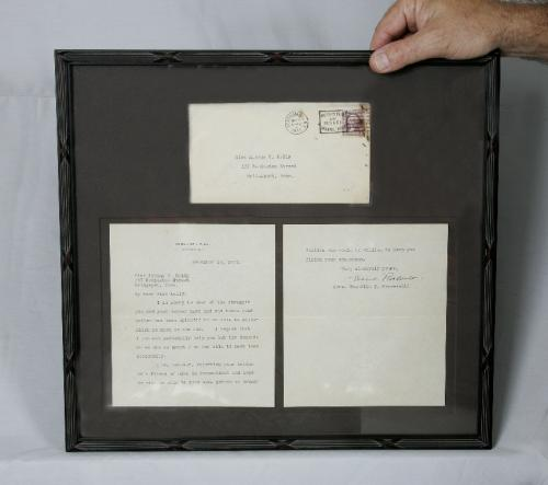 Eleanor Roosevelt autographed letter c1932