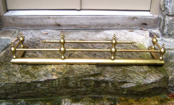 Price My Item Value Of 19th Century Solid Brass Fireplace Fender
