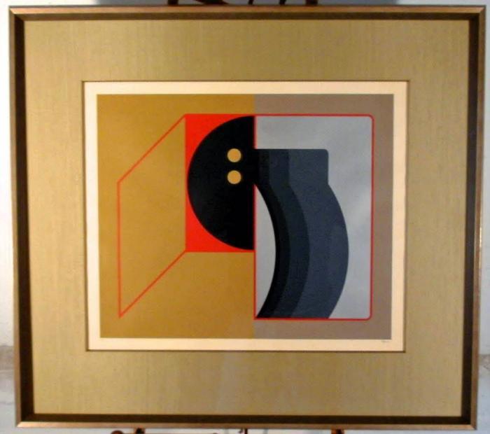 Manuel Felguerez Geometric abstract seragraph c1975