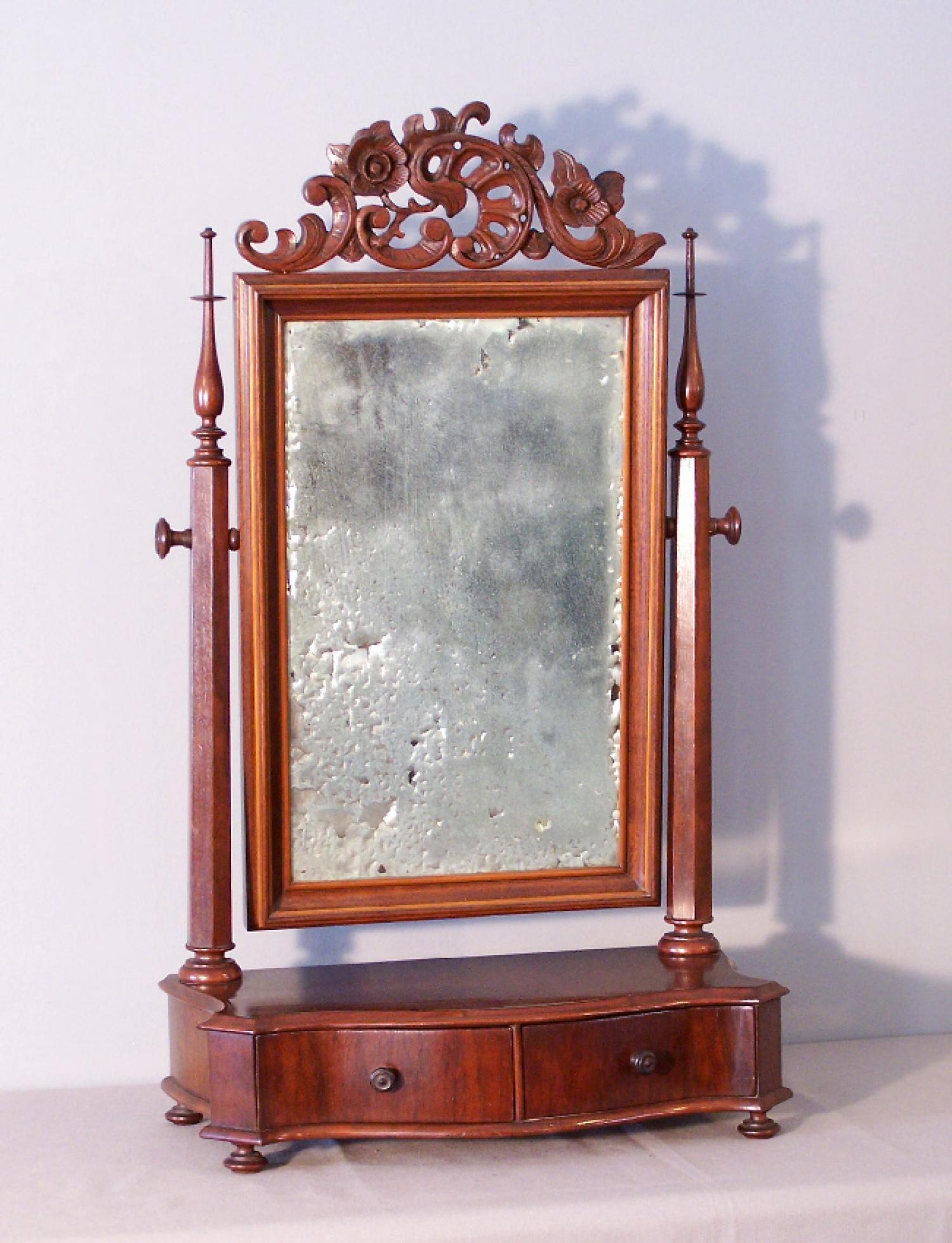 American mahogany dressing shaving mirror Carl Honberg  c1875