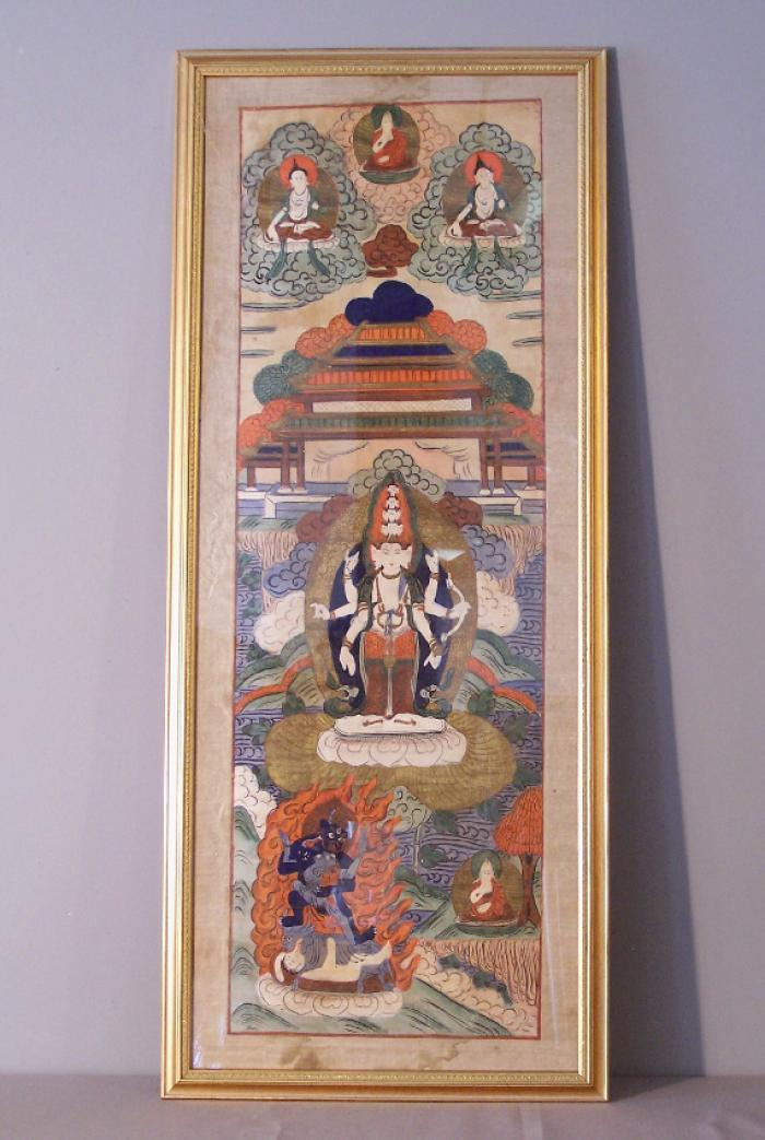 Early Asian ceremonial scroll 18thC