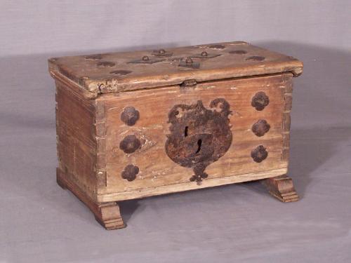 17th century Spanish document box c1650