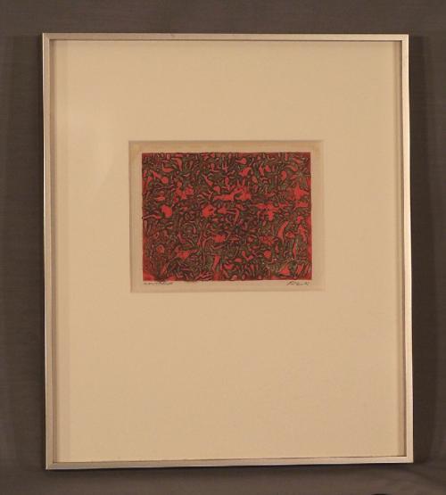 Abstract artist proof print signed Koren c1961