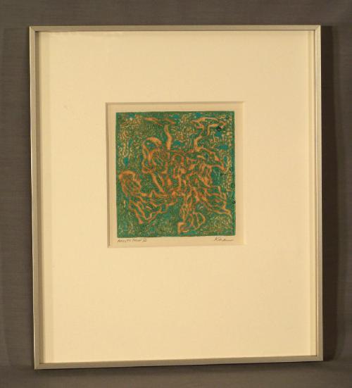 Abstract artist proof lV  print signed  Koren c1961