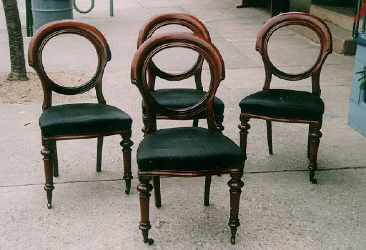 Antique victorian dining chairs - Set Antique English Victorian Dining Chairs