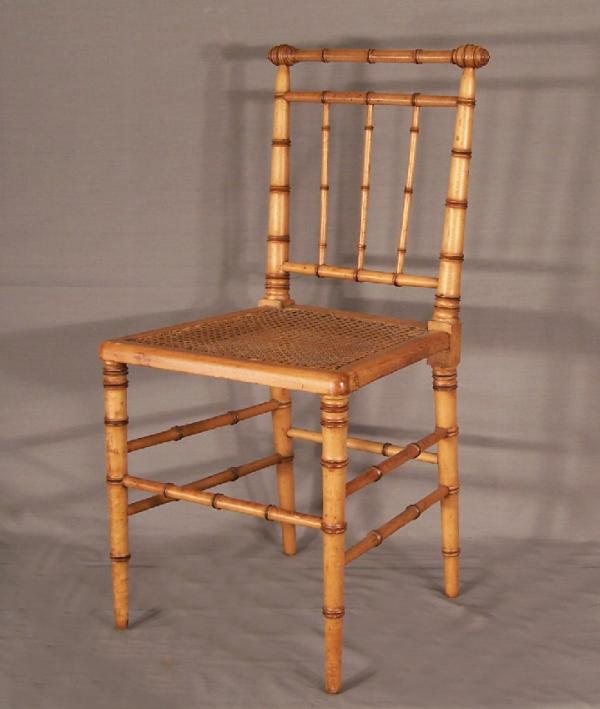 American Victorian Faux Bamboo Side Chair C1880