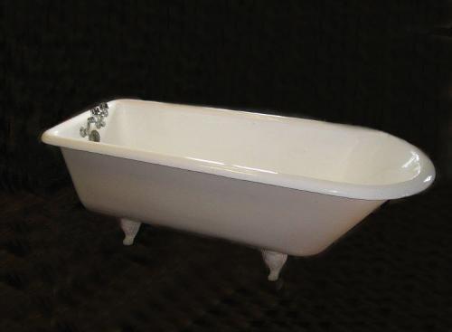 Vintage Peck Bros New Haven CT porcelain bathtub c1900