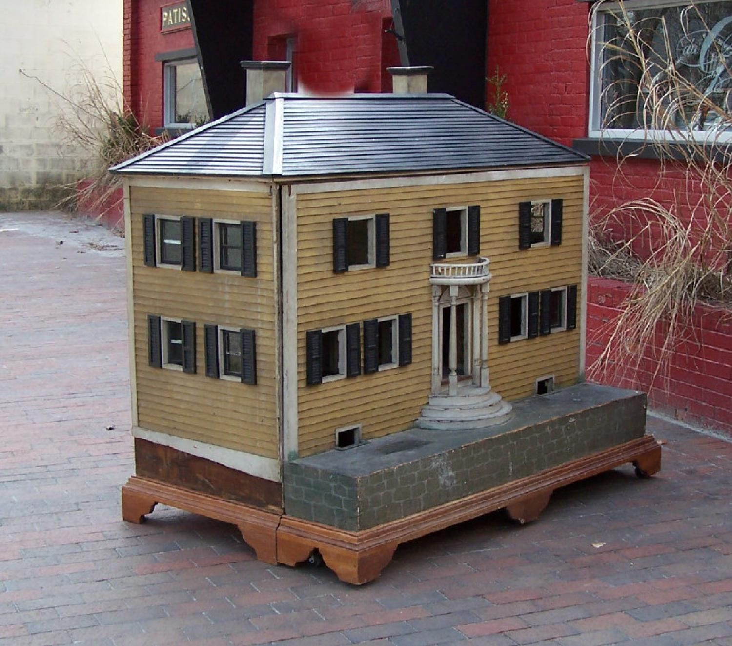 Large architects model or childs doll house c1900