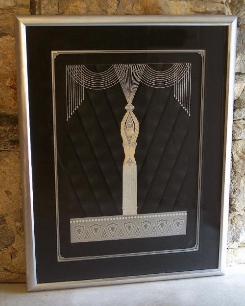 Erte Pearls and Diamonds silkscreen