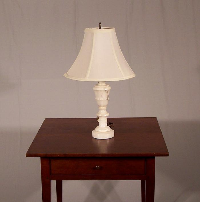 Alabaster table lamp c1920