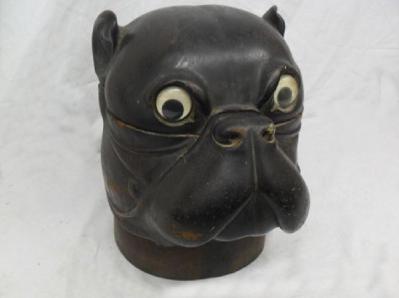 Boxer carved mahogany humidor c1880