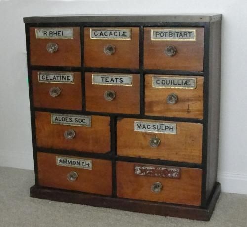 Apothecary chest 10 drawers c 1860