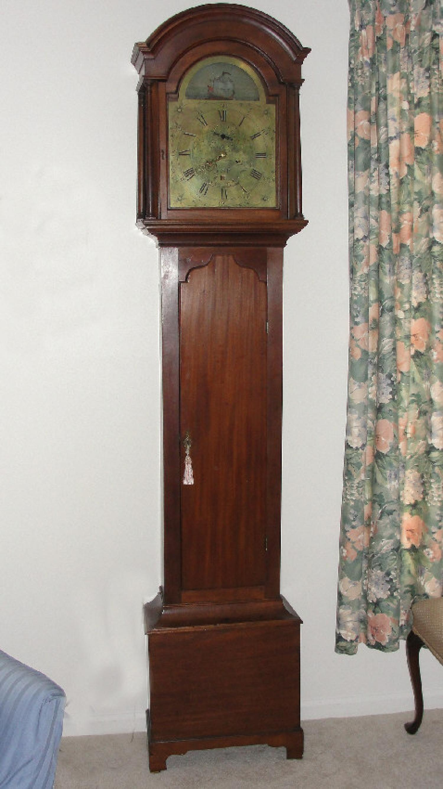 19thc English Tall Case Clock by Thos Bullock