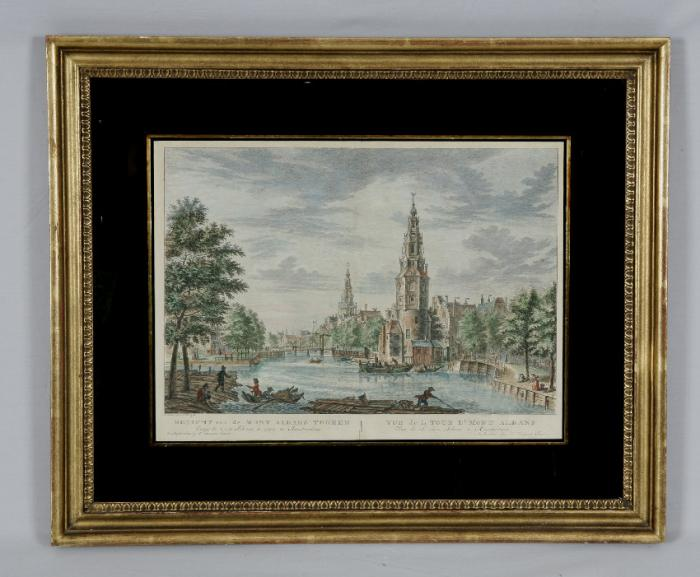 P Fouquet Junior print of Amsterdam Netherlands c1780