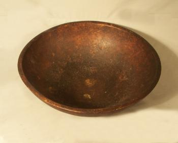 Image of Early American country kitchen wooden maple bowl c1800