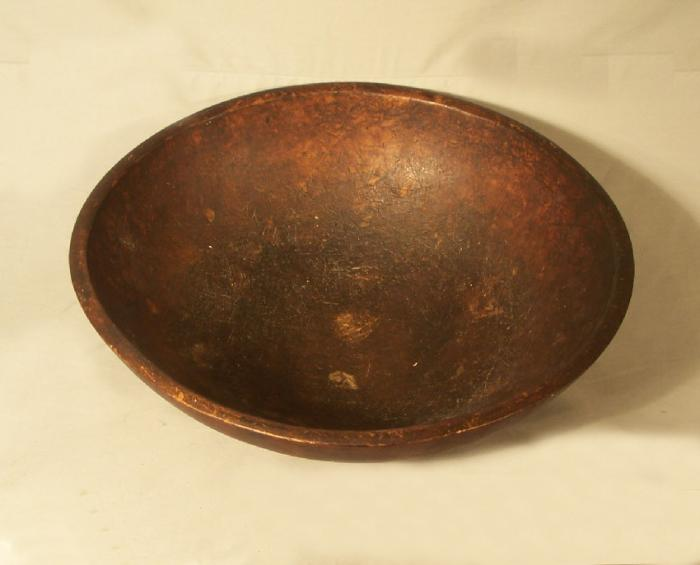 Early American country kitchen wooden maple bowl c1800