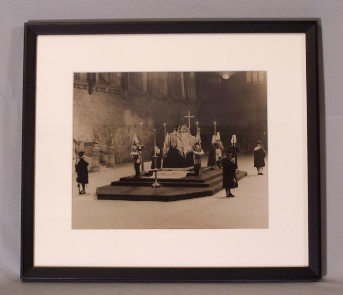 Photograph The Late King George Lies in State by Topical Press c1936