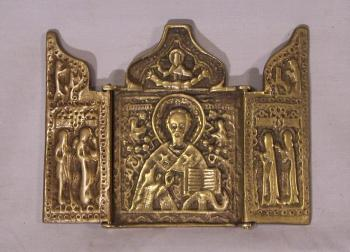 Image of Antique Russian brass traveler