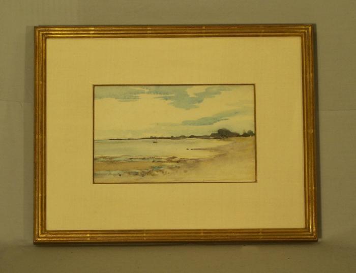 Fannie Burr watercolor coastal scene
