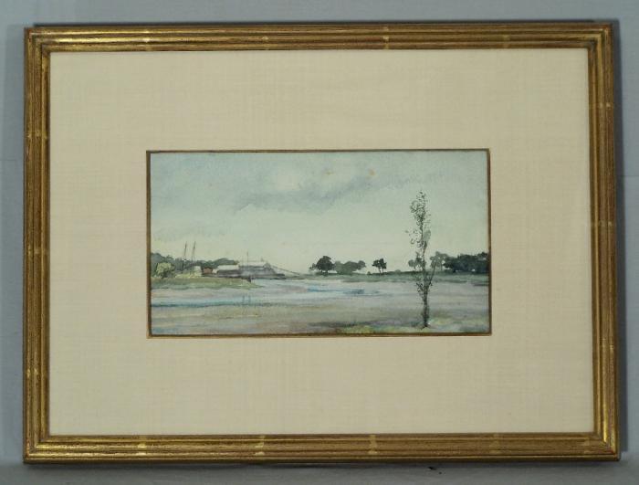 Fannie Burr watercolor marsh scene