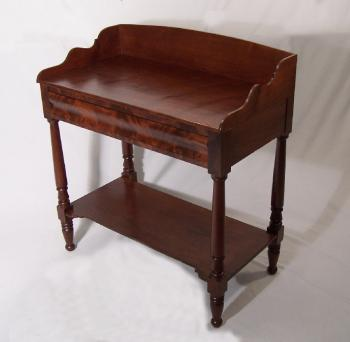 Image of American Federal mahogany serving stand c 1825