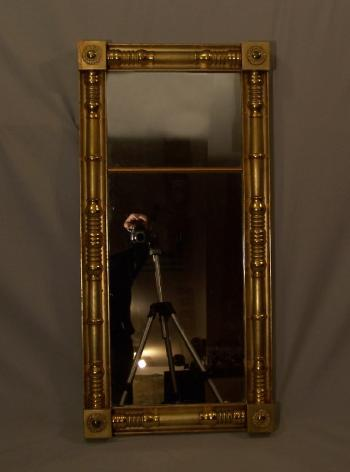 Image of American Federal gold leaf mirror c 1790