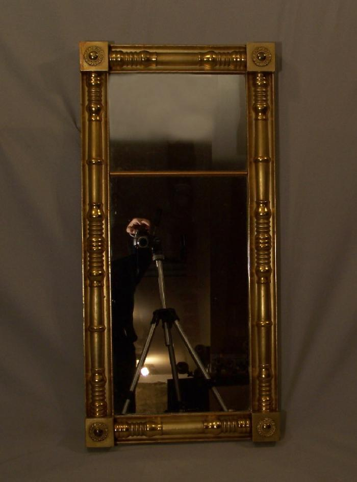 American Federal gold leaf mirror c 1790