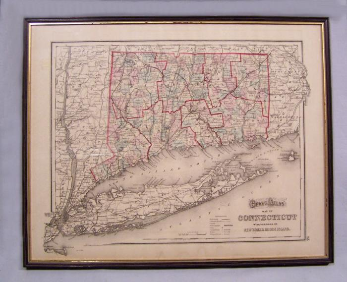 Grays Atlas map of Connecticut and New York