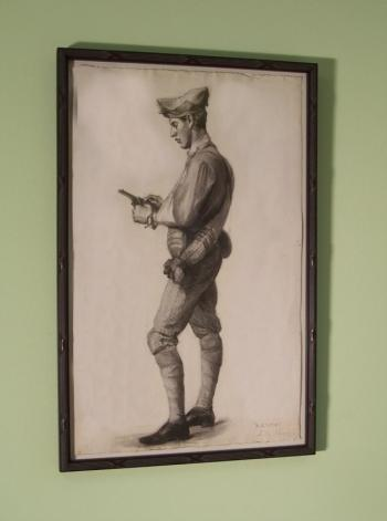 Image of Jennie Burr drawing of a soldier c1901