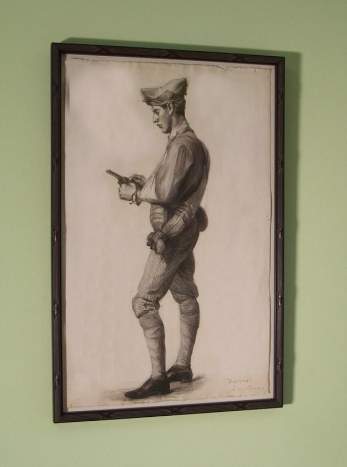 Jennie Burr drawing of a soldier c1901