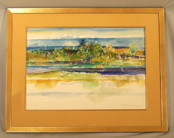 Paul Warren Zimmerman Rivers Edge landscape watercolor