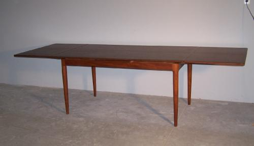 Moreddi Danish Modern teak dining table with leaves c1960