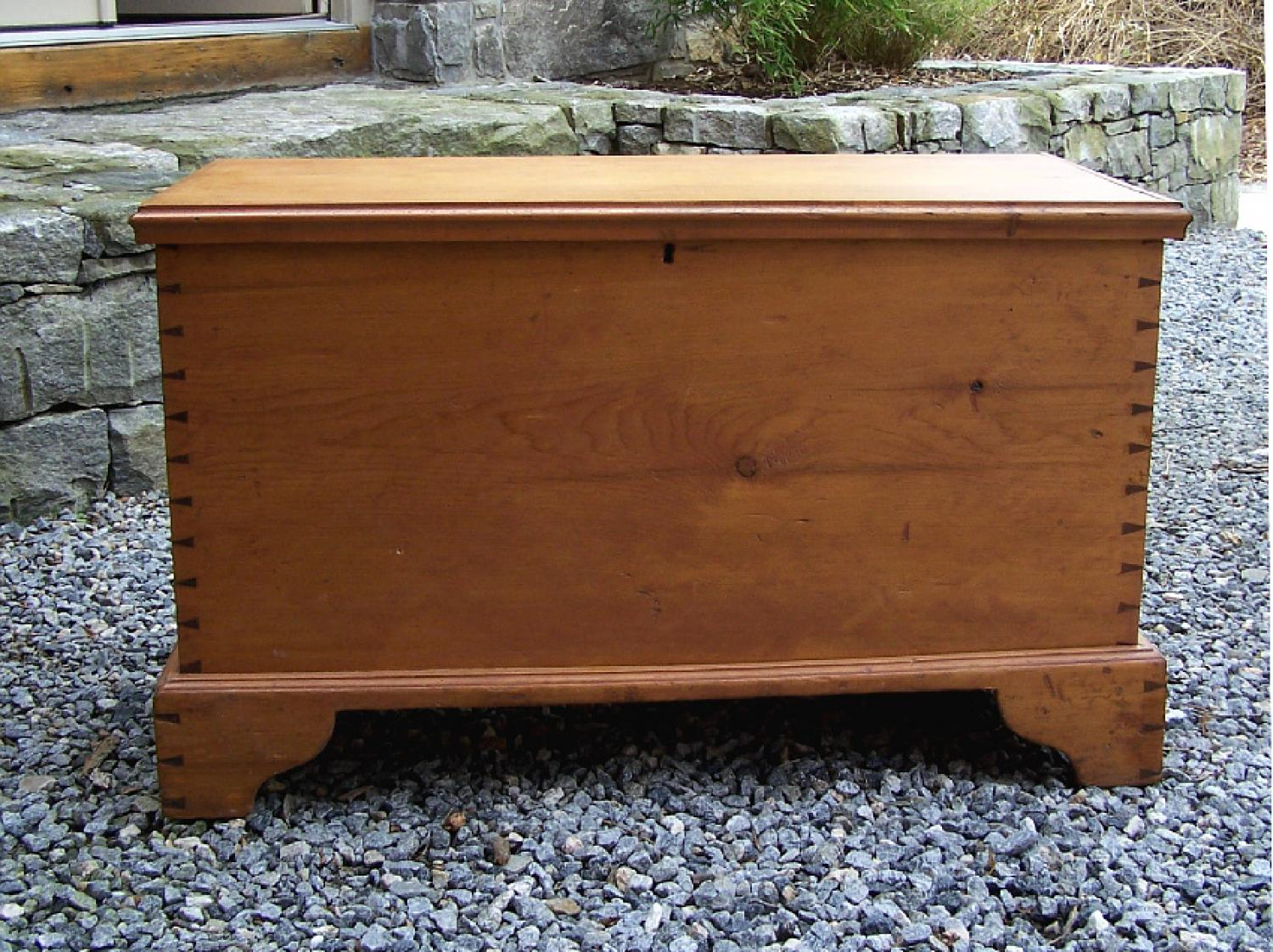 Early American pine blanket chest c1760