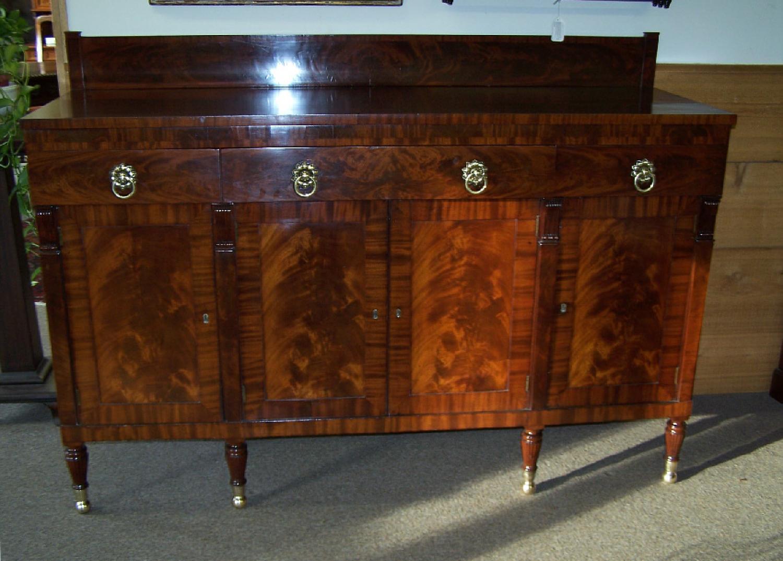 American Federal mahogany sideboard New York c1825