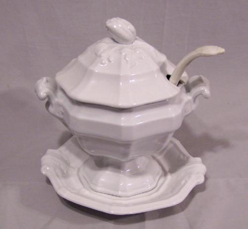 William Adams Ironstone tureen and ladle