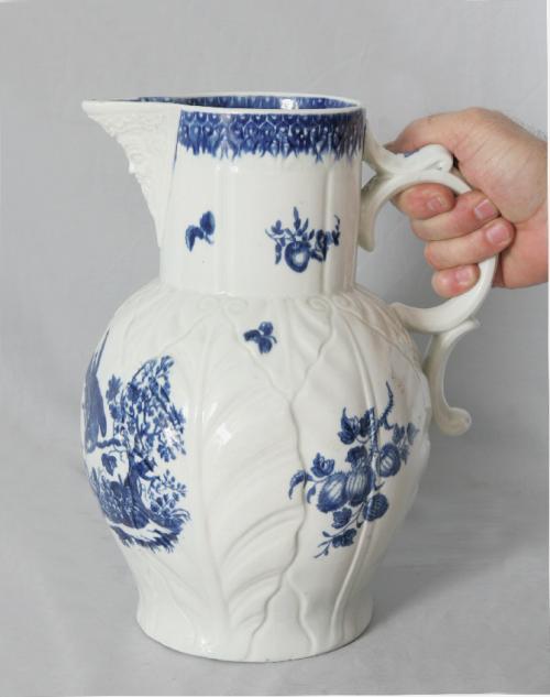 Early Worcester cabbage leaf jug c1780