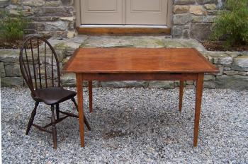 Image of Country pumpkin pine hand made kitchen table
