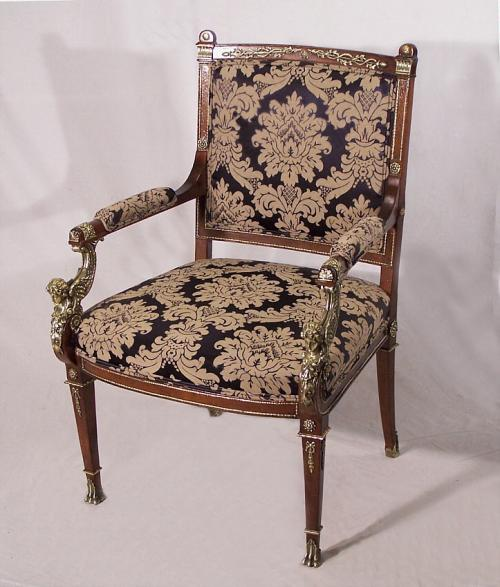 Neoclassical French Empire period armchair