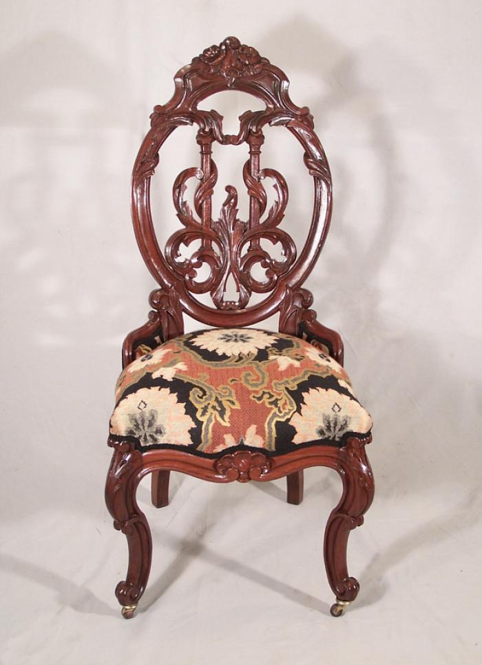 Victorian side chair pierce carved from solid rosewood c1860