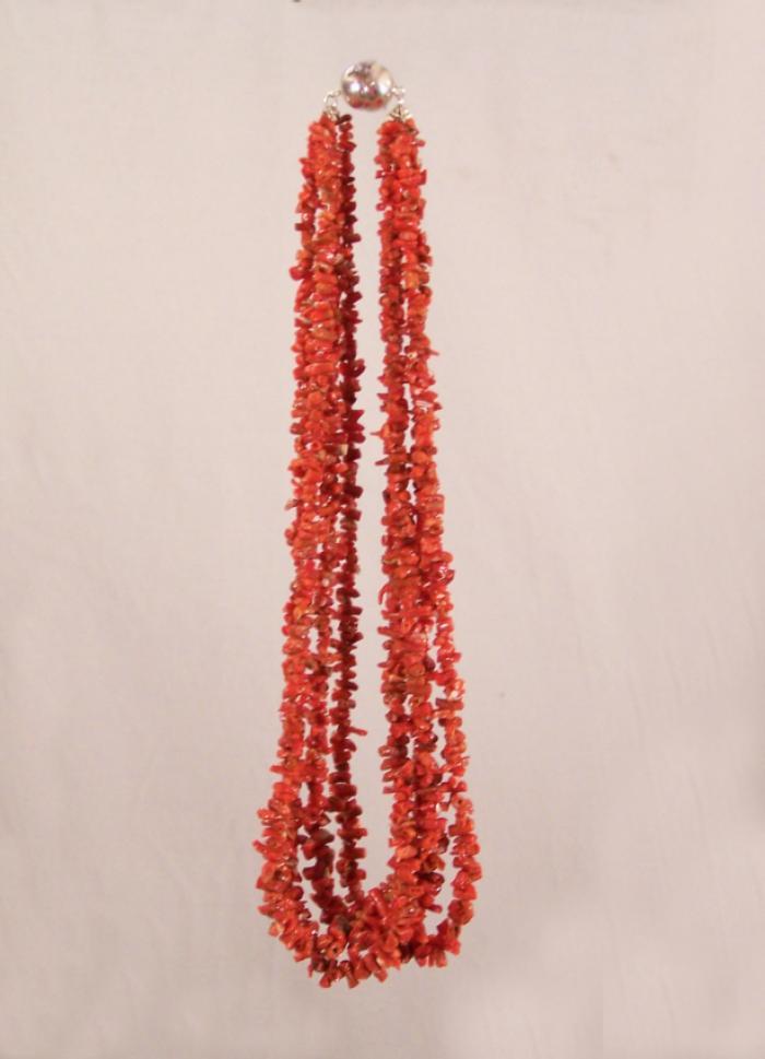 Vintage 4 strand Sicilian coral necklace
