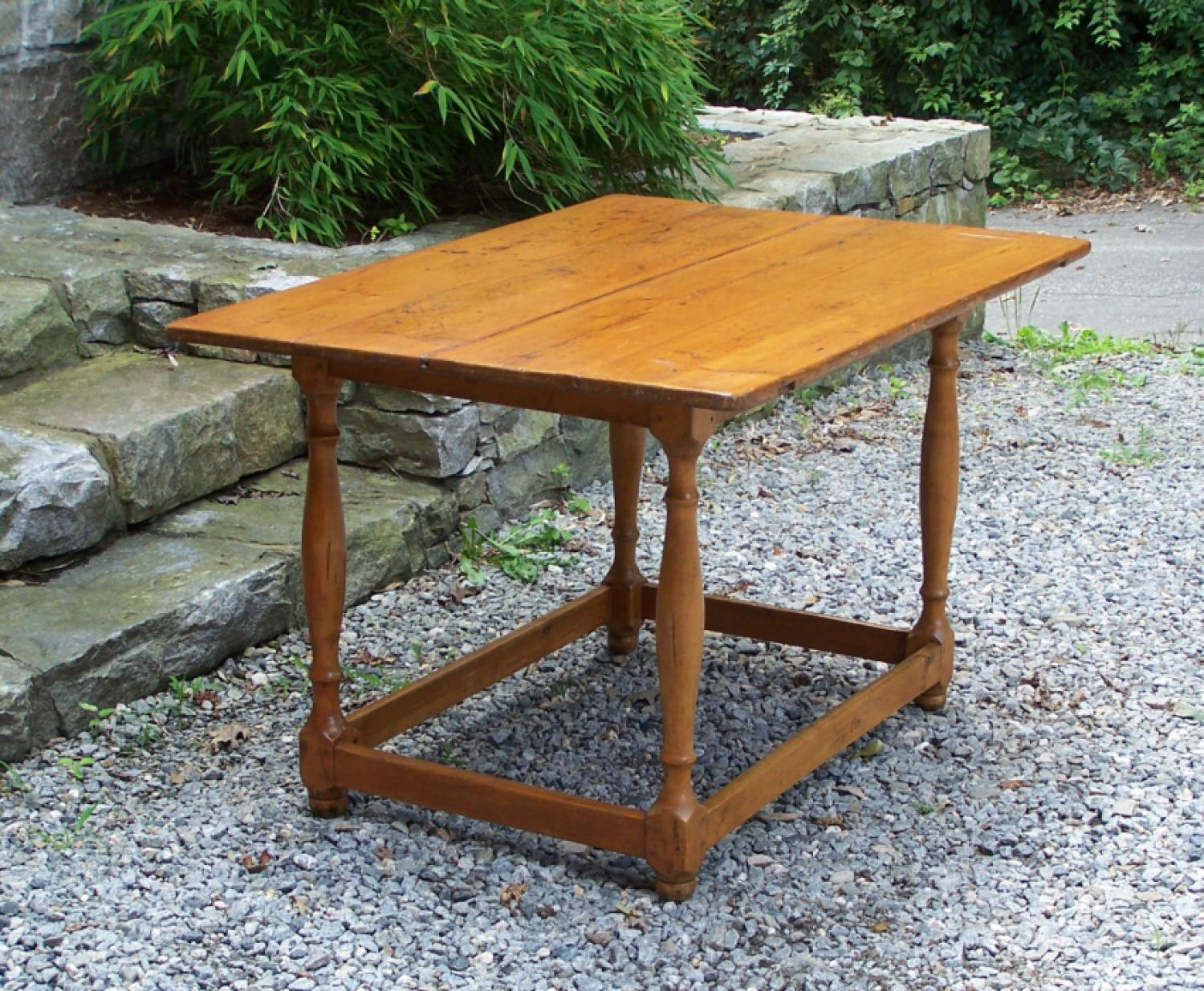 American country pine tavern table c1800