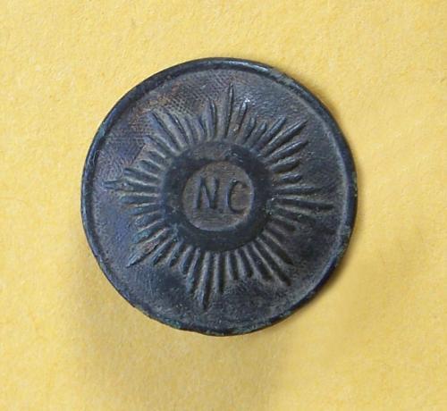 Confederate Civil War button made for the state of North Carolina