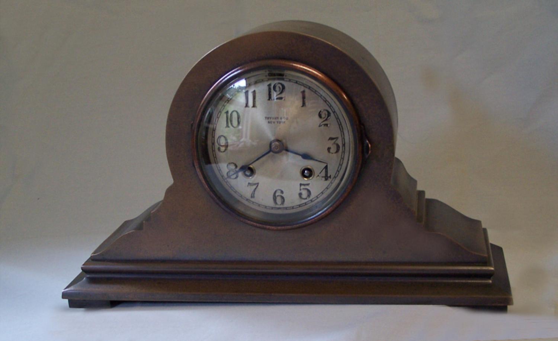 Tiffany Co New York bronze mantel clock by Chelsea Clock Co Boston