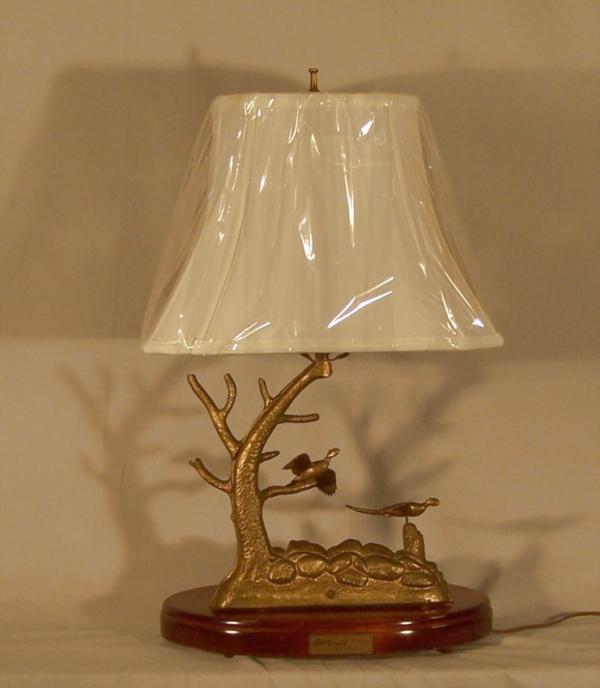 price my item value of donald w mcdonald solid cast brass pheasant sport lamp c1970. Black Bedroom Furniture Sets. Home Design Ideas