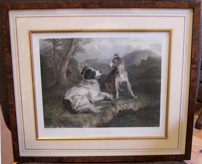 Sir Edwin Landseer The Twa Dogs engraving by C G Lewis