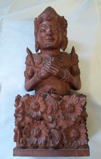Image of Southeast Asian hand carved wood figure c1900