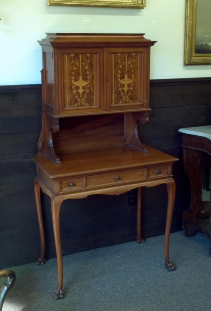 Philadelphia mahogany secretary desk c1890