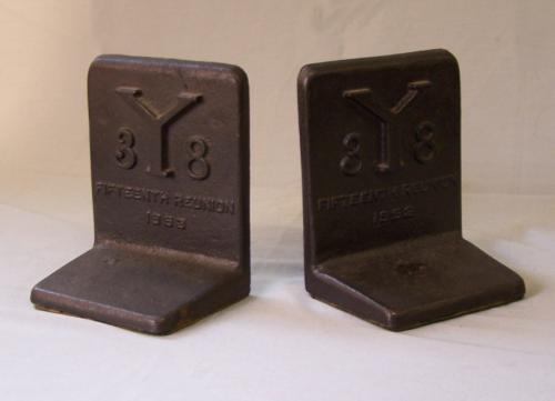 Pair of Yale bookends fifteenth reunion c 1953